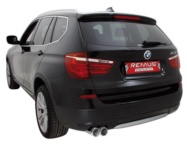 Remus - 11+ BMW F25 X3 Remus Axle Back Sport Exhaust Syste