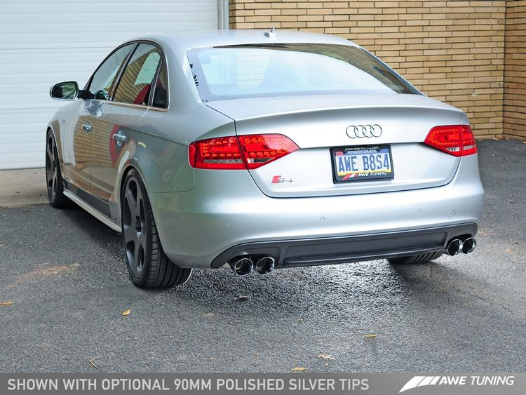 Audi B8 S4 3.0T AWE Tuning Touring Edition Exhaust and Resonated Downpipe Package