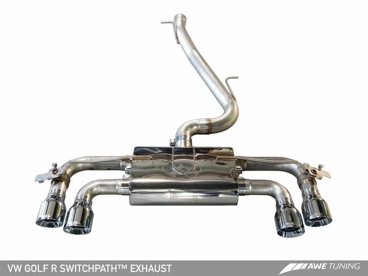 VW Mk7 Golf R AWE Tuning SwitchPath Exhaust System