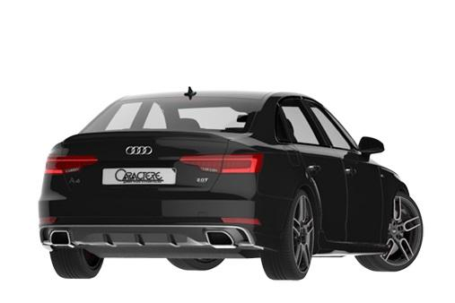 Caractere - Audi B9 A4 Caractere Rear Apron With Dual Tail Pip