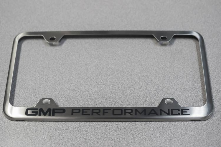 GMP - GMP Performance License Plate Frame - Brushed Stai
