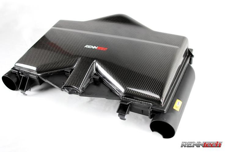 Renntech - RENNtech Carbon Fiber Flat Top Airbox for Mercedes