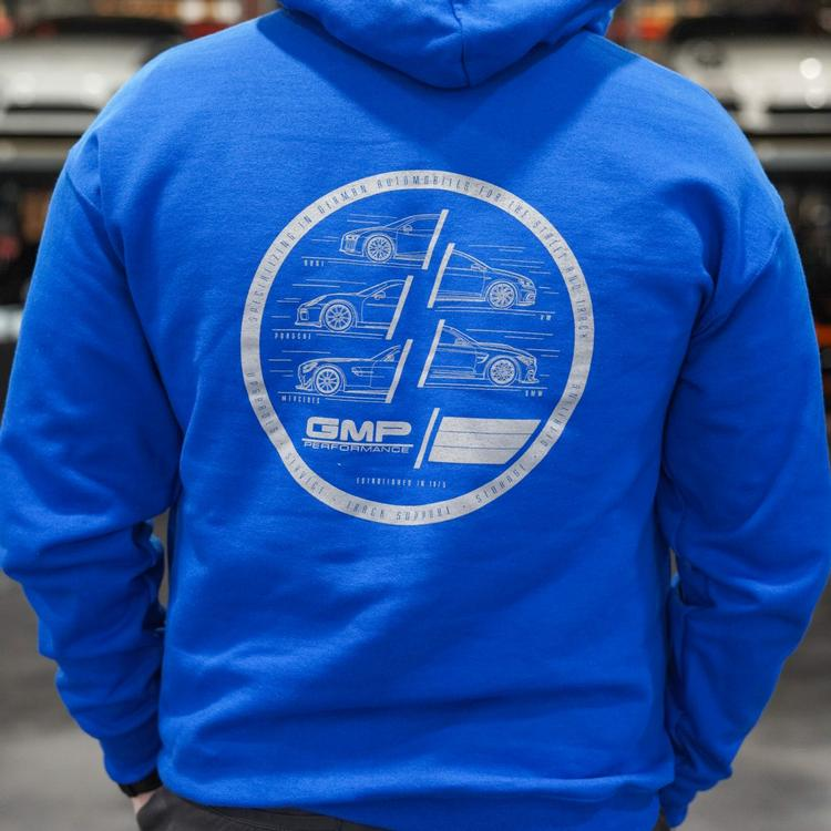 GMP - GMP 360 Degrees of German Blue Pullover Hoodie