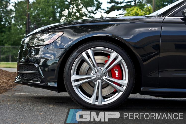 2013 Audi S6 with Carbotech Brake Pads and Painted Calipers