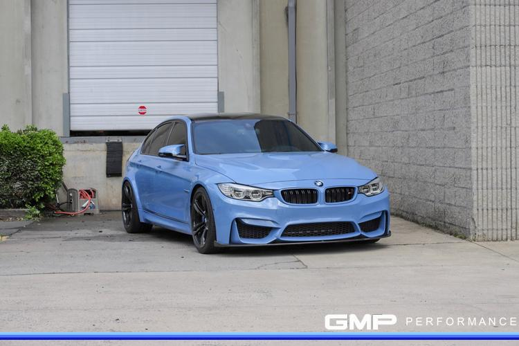 BMW M3 with H&R Lowering Springs and Custom Painted Calipers