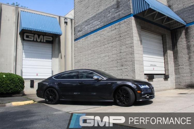 Audi S7 with APR Downpipe, Milltek Catback Exhaust, and RS7 Turbo Upgrade