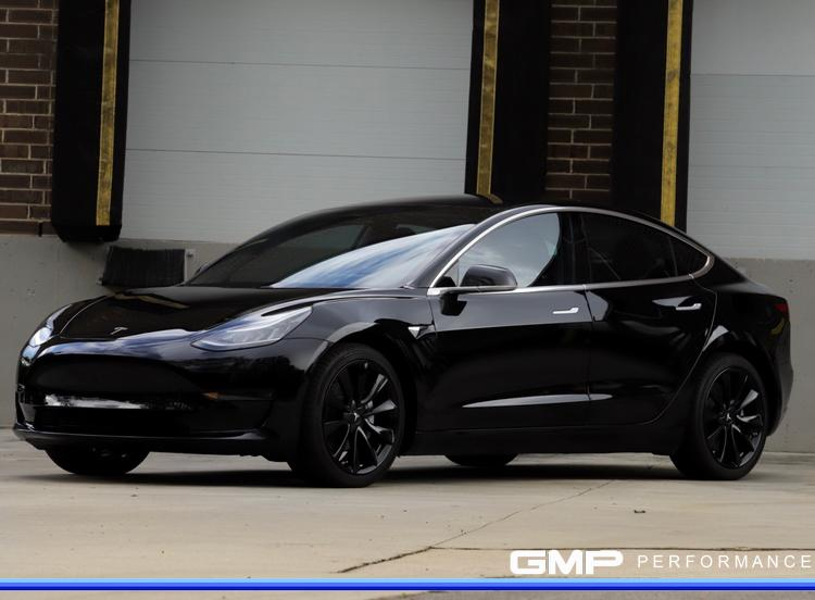 Tesla Model 3 with Powder Coated Wheels
