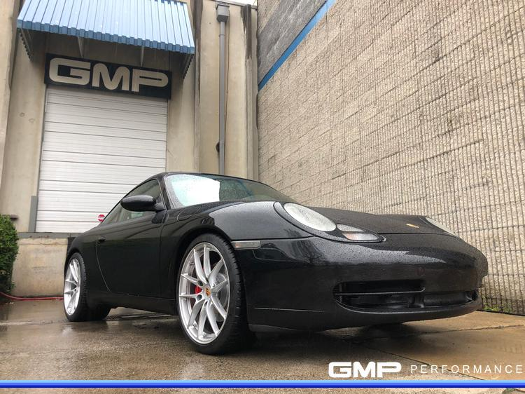 Porsche 996 Carrera C2 with H&R Lowering Springs and Caliper Painting
