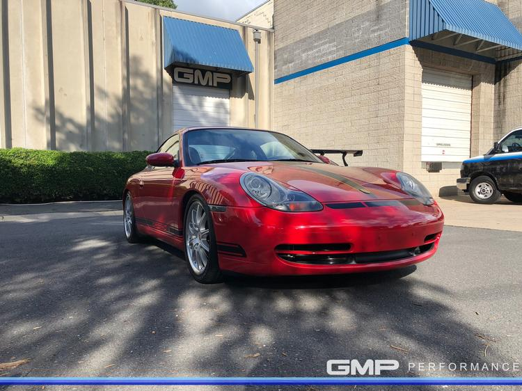 Porsche 996 with H&R Coilovers and Custom Accent Wrapping