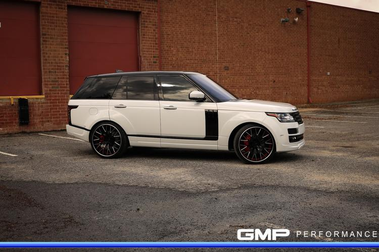 Range Rover with Kahn Widebody Kit, Custom Painted Calipers, and Vellano Wheels with Pirelli Tires
